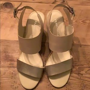 Nude Gold Strap Sandals